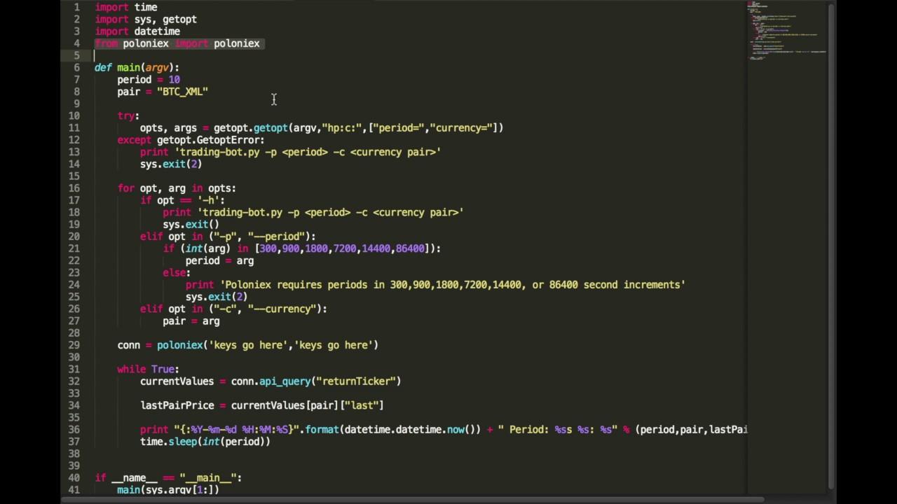 Python crypto bot