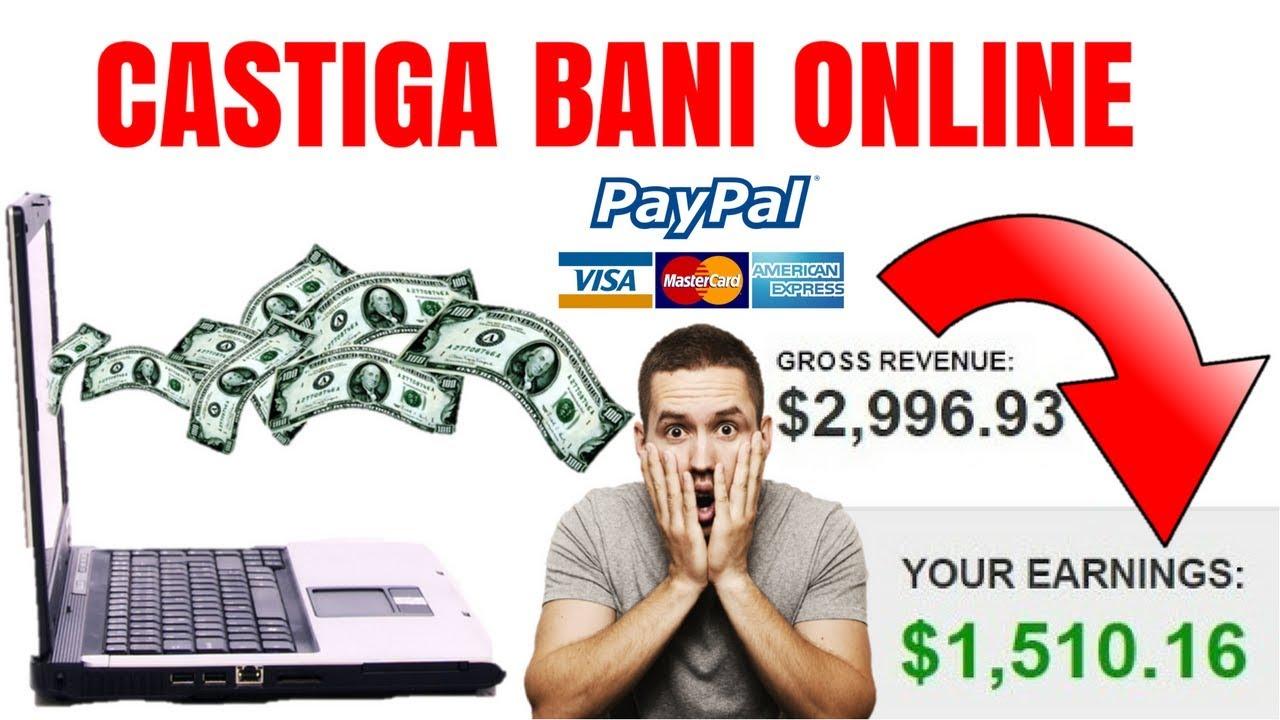 bani mari care câștigă pe Internet fără investiții