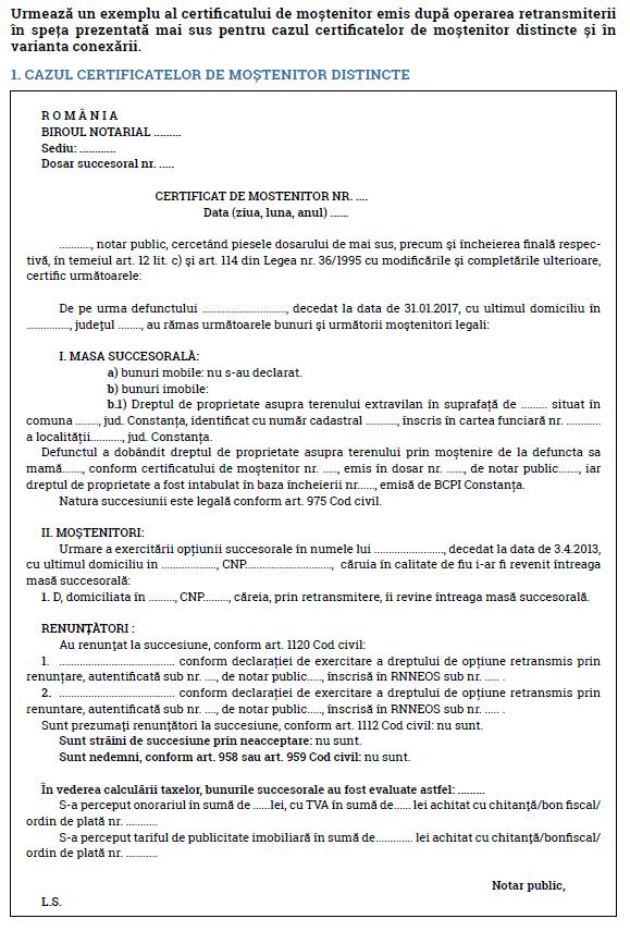 opțiune certificare notarială